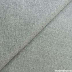 Flanelle laine mélangée gris