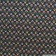 Microfibre imprimé grandes fleurs fond lie de vin