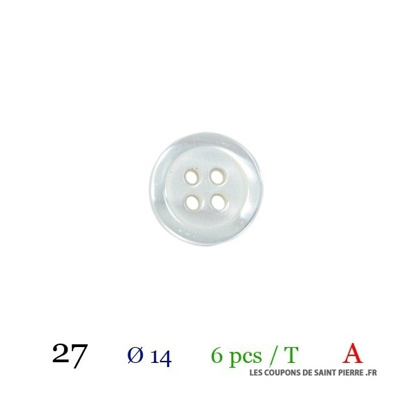 Tube 6 boutons Ø 14mm