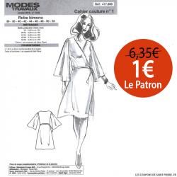 Patron n°417 899 Modes & Travaux - Robe kimono
