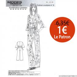 Patron n°415 158 Modes & Travaux - Combinaison pantalon fluide
