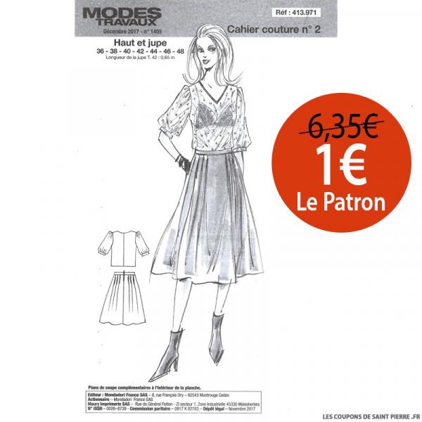 Patron n°413 971 Modes & Travaux - Haut et jupe