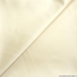 Satin duchesse polyester ivoire