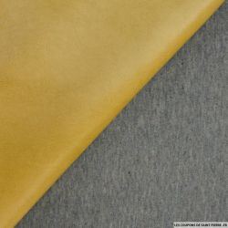 Simili cuir polyester ocre