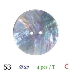 Tube 4 boutons nacré gris Ø 27mm