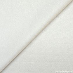 Jacquard polycoton fantaisie satiné ivoire