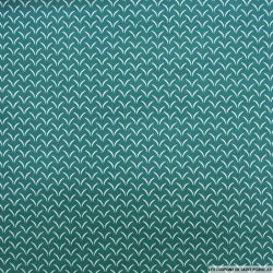 Coton imprimé cils blanc fond vert