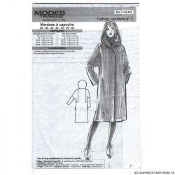 Patron Modes & Travaux Manteau à capuche - Décembre 2019 n°1429