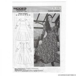 Patron Modes & Travaux Robe longue - Décembre 2019 n°1429