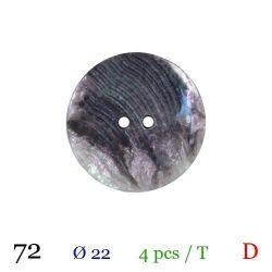 Tube 4 boutons nacré gris Ø 22mm