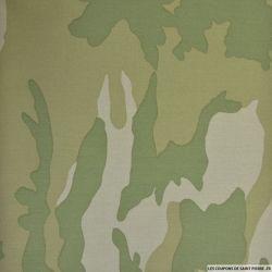 Gabardine de coton camouflage léger désert 3 couleurs