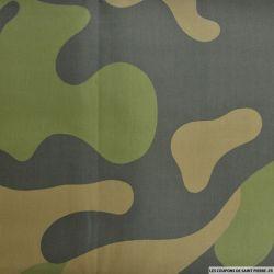 Gabardine de coton camouflage puzzle