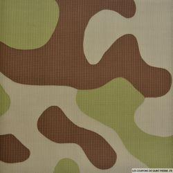 Gabardine de coton camouflage pixel