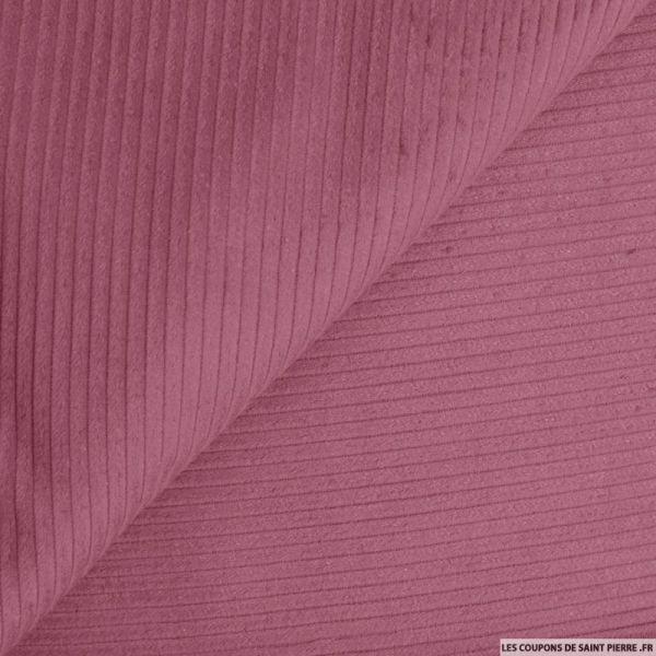 Velours côtelé coton vieux rose