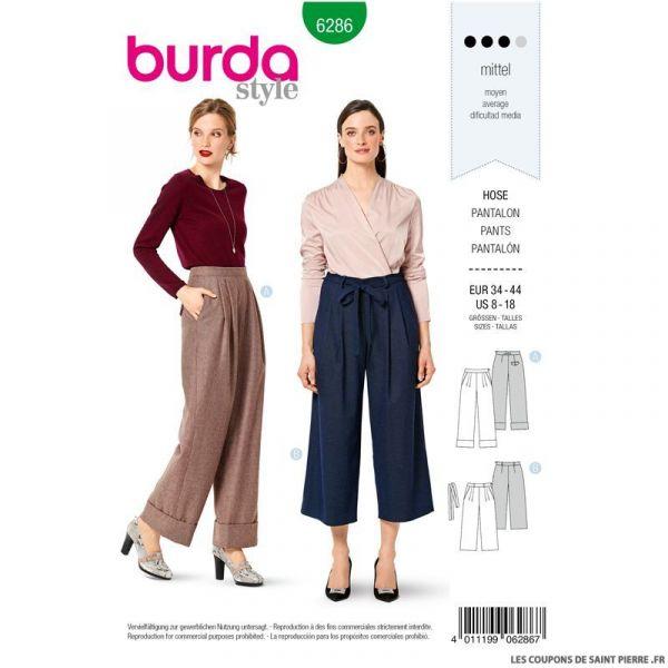 Patron Burda n°6286 Pantalon