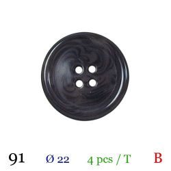 Tube 4 boutons noir marbré Ø 22mm