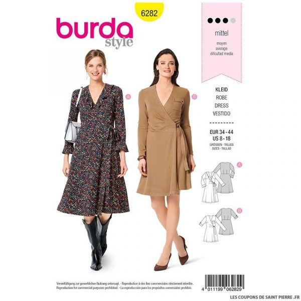 Patron Burda n°6282 Robe