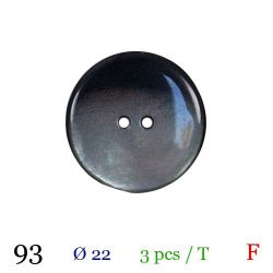 Tube 3 boutons nacré gris Ø 22mm