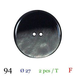 Tube 2 boutons nacré gris Ø 27mm