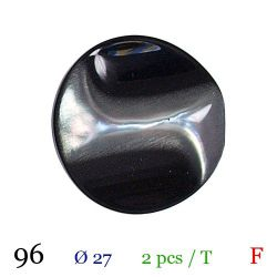Tube 2 boutons noir brillant Ø 27mm