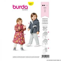 Patron Burda n°9311 Ensemble enfant