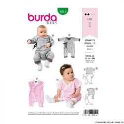 Patron Burda n°9314 Grenouillère bébé