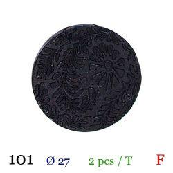 Tube 2 boutons noir à fleur Ø 27mm