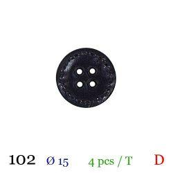 Tube 4 boutons noir Ø 15mm