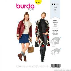 Patron Burda n°6249 Manteau