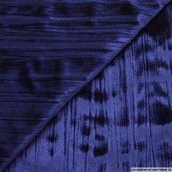 Velours froissé polyester bleu roi