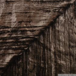 Velours froissé polyester chocolat