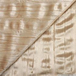 Velours froissé polyester vanille
