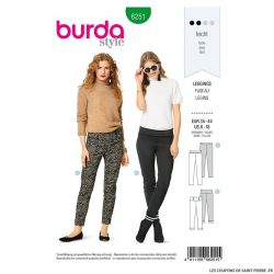 Patron Burda n°6251 Leggings