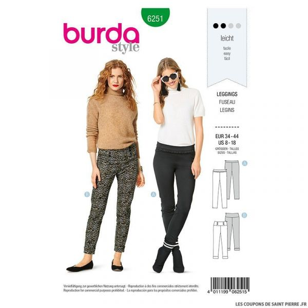Patron Burda n°6250 Pantalon