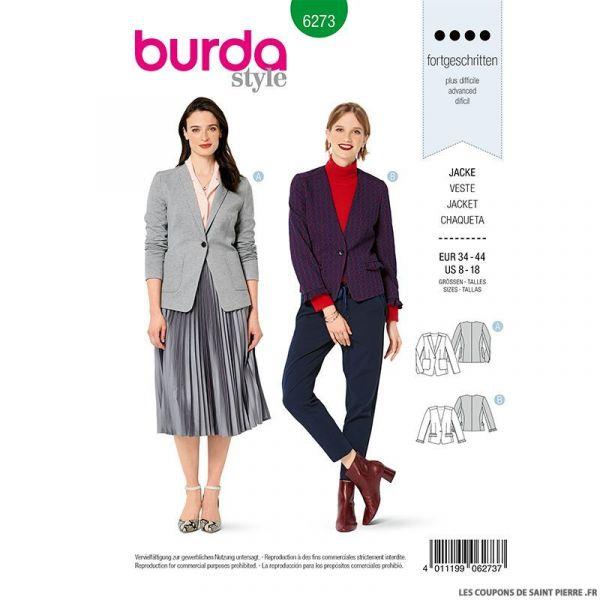 Patron Burda n°6273 Veste
