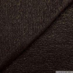 Jersey fin polyester froissé noir éclats mordoré