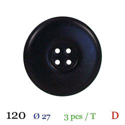 Tube 3 boutons noir Ø 27mm