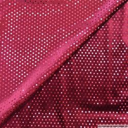 Jersey velours paillettes bordeaux
