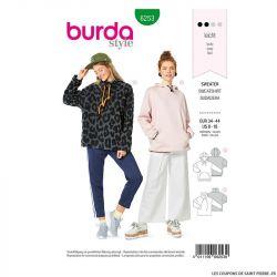 Patron Burda n°6253 Sweatshirt