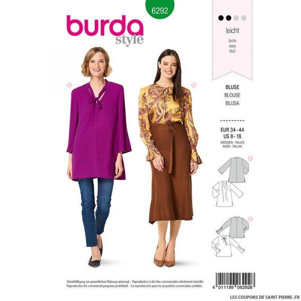 Patron Burda n°6292 Blouse