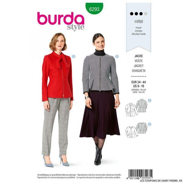 Patron Burda n°6293 Veste