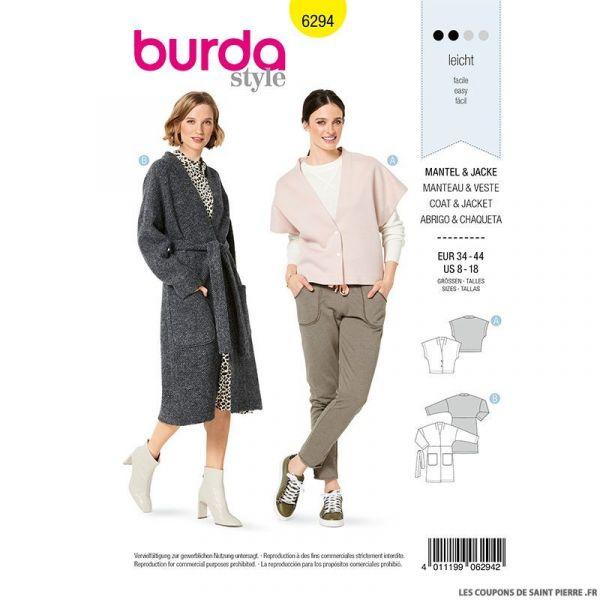 Patron Burda n°6294 Manteau et veste