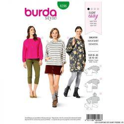 Patron Burda n°6296 Sweatshirt