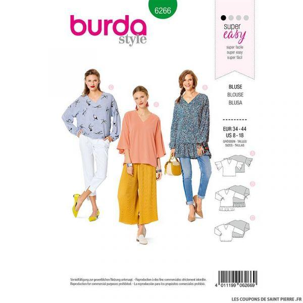Patron Burda n°6266 Blouse