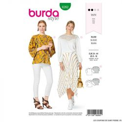 Patron Burda n°6262 Blouse