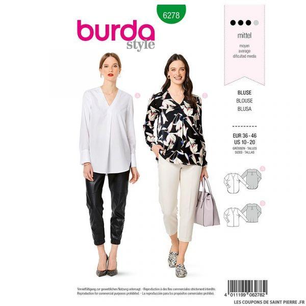 Patron Burda n°6278 Blouse