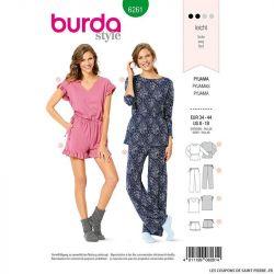 Patron Burda n°6261Pyjamas