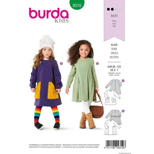 Patron Burda n°9310 Robe enfant