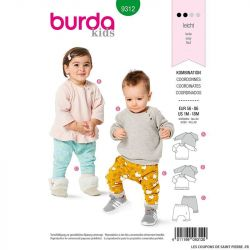 Patron Burda n°9312 Ensemble bébé