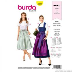 Patron Burda n°6268 Robe folkore